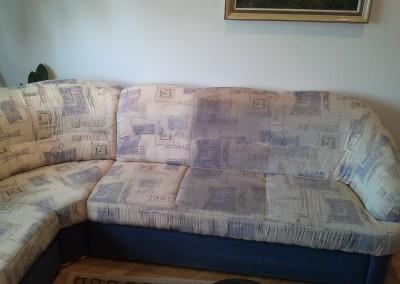 Upratovanie, tepovanie sedačiek, kobercov a čistenie kožených sedačiek Malacky, Stupava - tepovanie sedačky 2